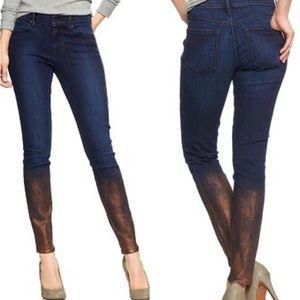 GAP Metallic Rinse Ombré Legging Skinny Jeans